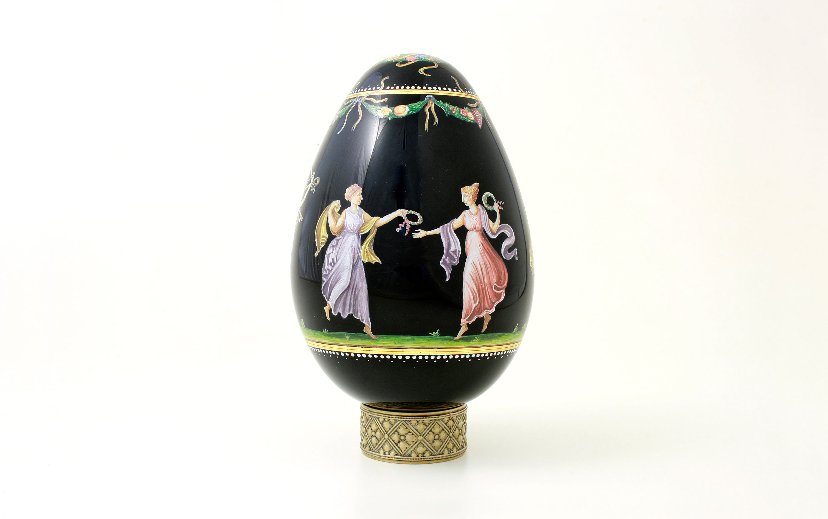 collectible decorated glass eggs